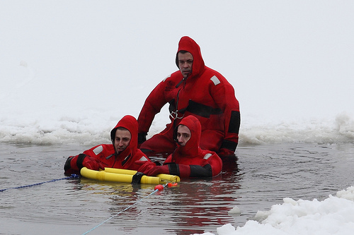 cold water rescue practice