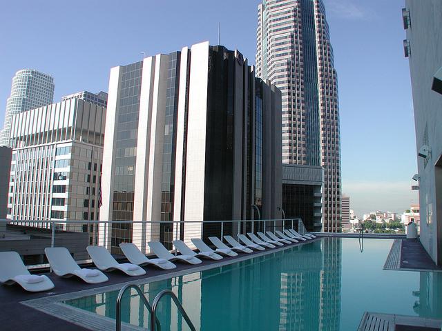 Pool at Standard Hotel, LA