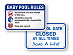 Baby Pool Signs