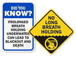 No Breath Holding Signs