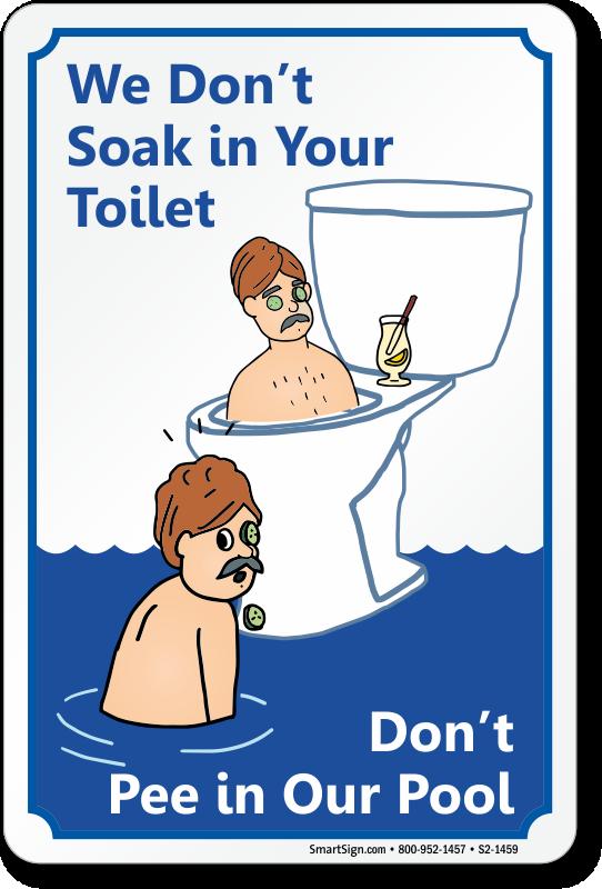 Swim toilet pee pool
