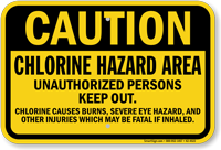 New Jersey Chlorine Hazard Pool Sign