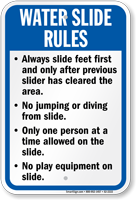 Missouri Water Slide Rules Sign