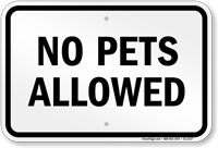 Utah No Pets Allowed Sign