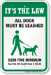 Dog Leash Sign For New York City (New York)