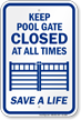 Pool Gate Sign