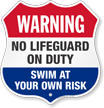Pool Warning Shield Sign
