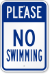 Swimming Prohibited Sign