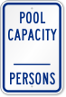 Write-Own Max People Capacity Sign