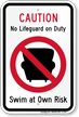 Pool Caution Sign