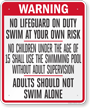 District of Columbia Pool Sign