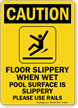 OSHA Swimming Pool Caution Sign