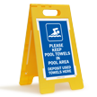 FloorBoss XL™ Folding Floor Stand Sign