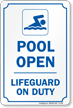 Lifeguard Signs