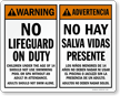Bilingual Pool Warning / Advertencia Sign