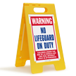 FloorBoss XL™ Free-Standing Pool Warning Sign