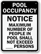 Maximum People Pool Occupancy Sign