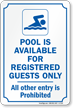Community Pool Signs