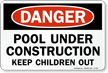 Pool Danger Sign
