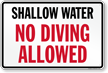 South Carolina No Diving Sign