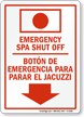 Bilingual Emergency Spa Sign