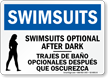 Bilingual Pool / Spa Sign