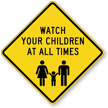 Diamond Child Safety Sign