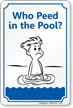 Novelty Funny Pool Sign