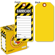 2-Sided Striped Barricade Tag In A Box