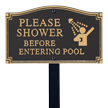 Pool Rules GardenBoss™ Statement Plaque With Stake