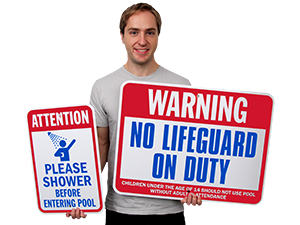 Maureen52Dorothy No Pets In Swimming Pool Area Spa Warning Signs Stickers Funny Commercial Safety Signs Decals Round Vinyl Notice Sign Stickers 9x9 Inches